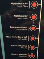 Curtis Chen's listing at the Star Trek exhibit at the EMP