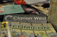 Clarion West table at ECCC 2014 by Rashida Smith