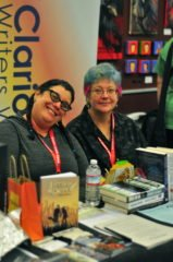 Caren Gussoff and Cat Rambo at ECCC 2014 by Rashida Smith