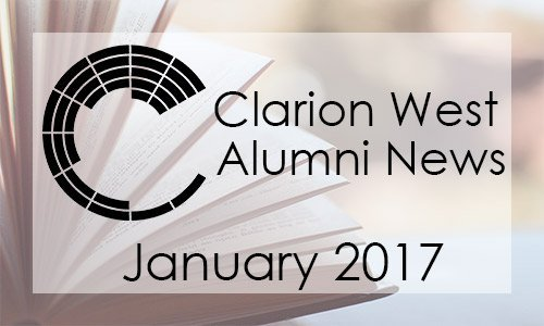 Clarion West Alumni News, January 2017