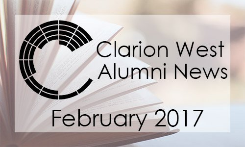 Clarion West Alumni News, February 2017