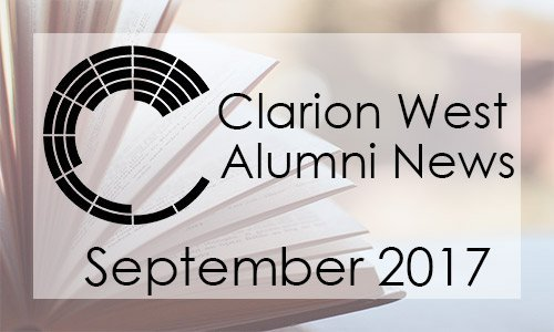 Clarion West Alumni News, September 2017