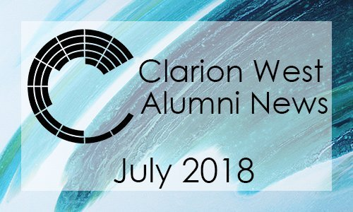 Clarion West Alumni News - July 2018