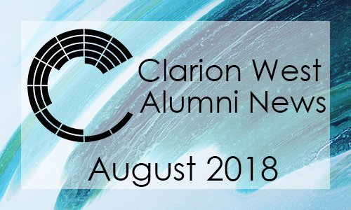 Clarion West Alumni News - August 2018