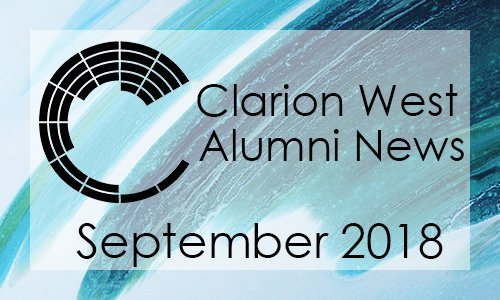 Clarion West Alumni News - September 2018